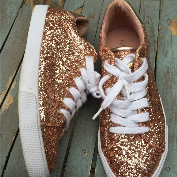 rose gold sequin sneakers